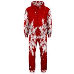 Background Christmas Star Hooded Jumpsuit (men)