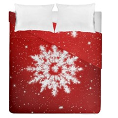 Background Christmas Star Duvet Cover Double Side (queen Size)