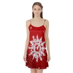 Background Christmas Star Satin Night Slip