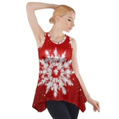 Background Christmas Star Side Drop Tank Tunic