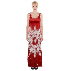 Background Christmas Star Maxi Thigh Split Dress