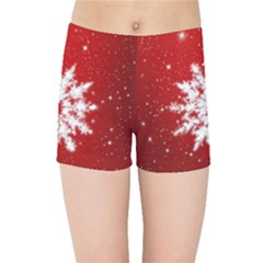 Background Christmas Star Kids Sports Shorts