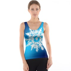 Background Christmas Star Tank Top
