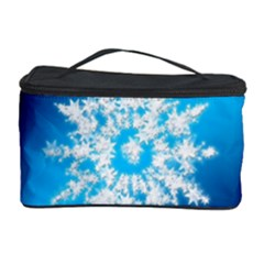 Background Christmas Star Cosmetic Storage Case by Nexatart