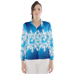 Background Christmas Star Wind Breaker (women)