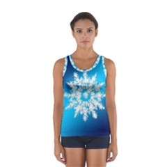 Background Christmas Star Sport Tank Top