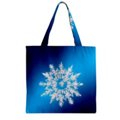 Background Christmas Star Zipper Grocery Tote Bag by Nexatart