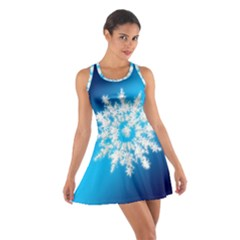 Background Christmas Star Cotton Racerback Dress