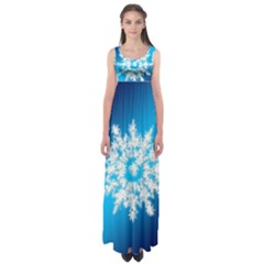 Background Christmas Star Empire Waist Maxi Dress