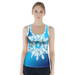 Background Christmas Star Racer Back Sports Top