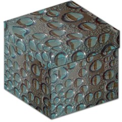 Drop Of Water Condensation Fractal Storage Stool 12