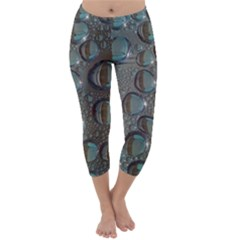Drop Of Water Condensation Fractal Capri Winter Leggings