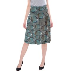 Drop Of Water Condensation Fractal Midi Beach Skirt