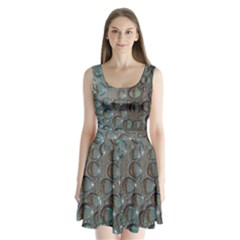 Drop Of Water Condensation Fractal Split Back Mini Dress