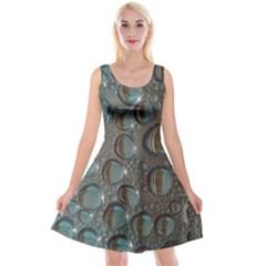 Drop Of Water Condensation Fractal Reversible Velvet Sleeveless Dress