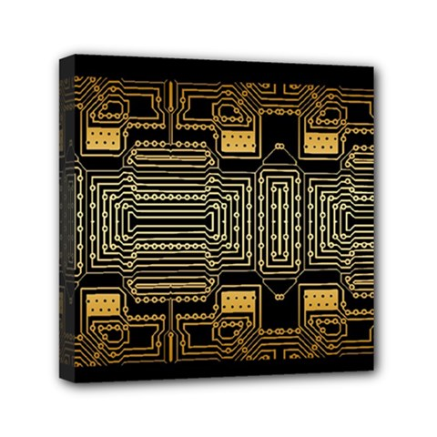 Board Digitization Circuits Mini Canvas 6  X 6