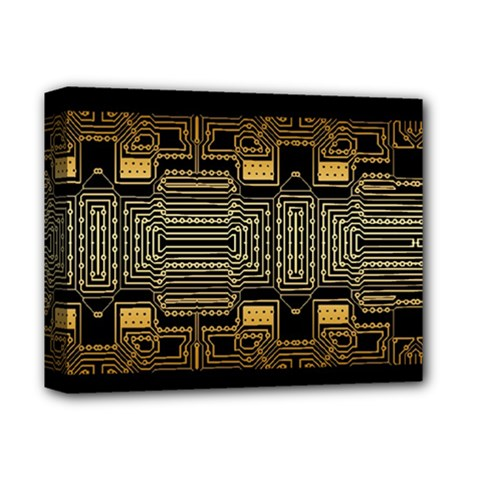 Board Digitization Circuits Deluxe Canvas 14  X 11  by Nexatart