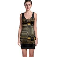 Board Digitization Circuits Bodycon Dress