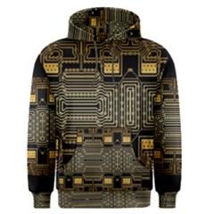 Board Digitization Circuits Men s Pullover Hoodie