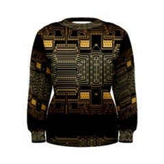 Board Digitization Circuits Women s Sweatshirt