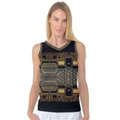 Board Digitization Circuits Women s Basketball Tank Top