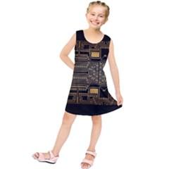 Board Digitization Circuits Kids  Tunic Dress