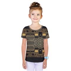 Board Digitization Circuits Kids  One Piece Tee