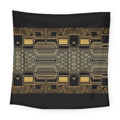 Board Digitization Circuits Square Tapestry (large) by Nexatart