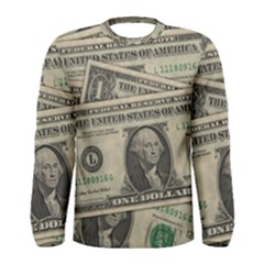 Dollar Currency Money Us Dollar Men s Long Sleeve Tee