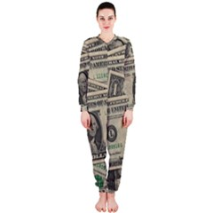 Dollar Currency Money Us Dollar Onepiece Jumpsuit (ladies)