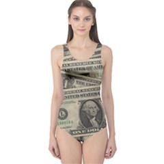 Dollar Currency Money Us Dollar One Piece Swimsuit