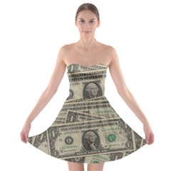 Dollar Currency Money Us Dollar Strapless Bra Top Dress