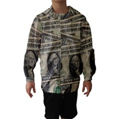 Dollar Currency Money Us Dollar Hooded Wind Breaker (kids)