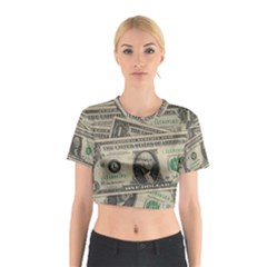 Dollar Currency Money Us Dollar Cotton Crop Top