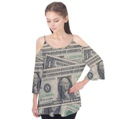 Dollar Currency Money Us Dollar Flutter Tees