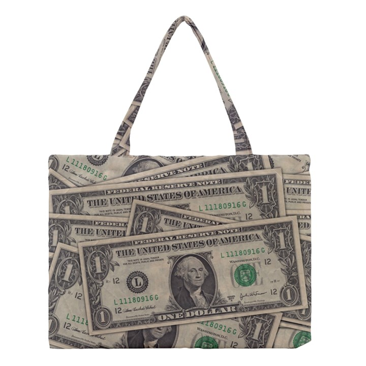 Dollar Currency Money Us Dollar Medium Tote Bag