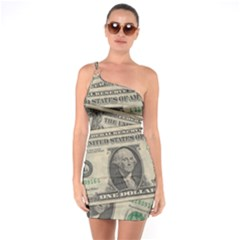 Dollar Currency Money Us Dollar One Soulder Bodycon Dress
