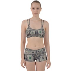 Dollar Currency Money Us Dollar Women s Sports Set