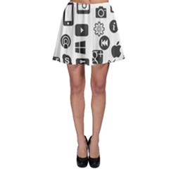 Icon Ball Logo Google Networking Skater Skirt