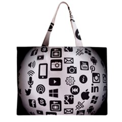 Icon Ball Logo Google Networking Zipper Mini Tote Bag