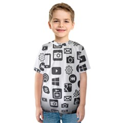 Icon Ball Logo Google Networking Kids  Sport Mesh Tee