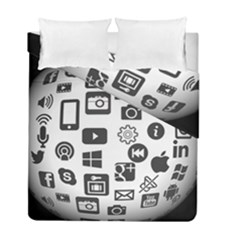Icon Ball Logo Google Networking Duvet Cover Double Side (full/ Double Size)