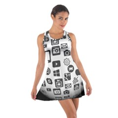 Icon Ball Logo Google Networking Cotton Racerback Dress