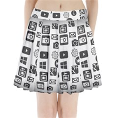 Icon Ball Logo Google Networking Pleated Mini Skirt