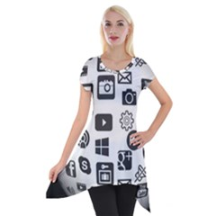 Icon Ball Logo Google Networking Short Sleeve Side Drop Tunic