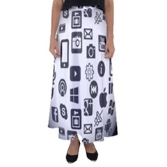 Icon Ball Logo Google Networking Flared Maxi Skirt