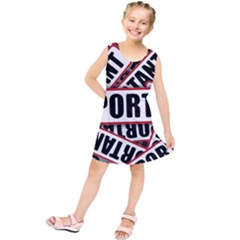 Important Stamp Imprint Kids  Tunic Dress