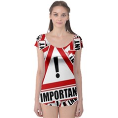 Important Stamp Imprint Boyleg Leotard