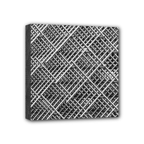 Grid Wire Mesh Stainless Rods Mini Canvas 4  X 4