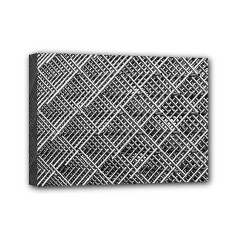 Grid Wire Mesh Stainless Rods Mini Canvas 7  X 5